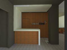 TRAVELIDEA / RECEPTION Design Projects, Bathroom Lighting, Architecture Design, Reception, Bathtub, Interiors, Interior Design, Mirror, Studio