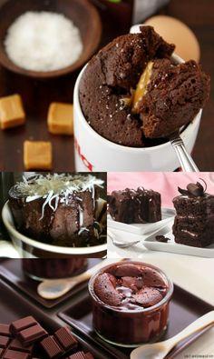 Variações de recheio de bolo de caneca