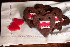 Domo-Kun Heart Cookies by alanabread, via Flickr