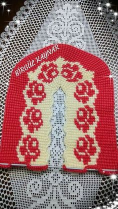 This Pin was discovered by Fer Tunisian Crochet, Knit Crochet, Knitted Slippers, Baby Booties, Christmas Sweaters, Diy And Crafts, Casual, Knitting, Flats