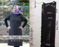 Pratik Tunik Kesimi (36-46 beden Ölçüleriyle) - NEBİHAN AKÇA Sewing Patterns Free, Fashion, Knit Fashion, Tunic, Fabrics, Moda, Fashion Styles, Fashion Illustrations