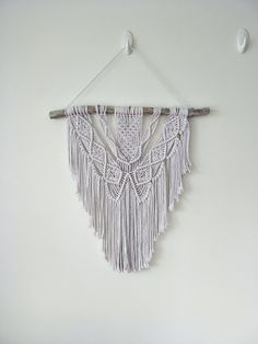 Macrame wall hanging boho decor white natural nursery art home living modern style handmade home tapestry fibre bedroom inspo bohemian Bedroom Inspo, Bedroom Decor, Natural Nursery, Natural Interior, Hanging Rope, Neat And Tidy, Southwestern Style, Handmade Home, Nursery Art