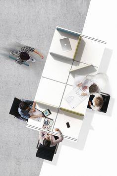 Rail Desk, le module co-working de Hyojeong Lee Lightroom, Adobe Photoshop, Modular Furniture, Office Furniture, Adobe Illustrator, Workplace Design, Yanko Design, Co Working, Modular Design