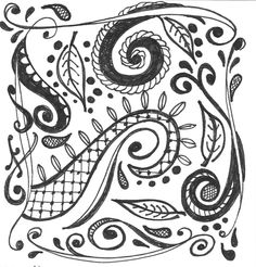 Ink Me Up - Sketchbook  zen tangles