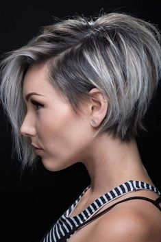 8 cool undercut bob haircut pictures - new best hairstyle - Bob hairstyles have been very popular lately and stylish women are looking for new styles and hairs - Undercut Bob Haircut, Pixie Bob Haircut, Haircut For Thick Hair, Nape Undercut, Pixie Bob Hairstyles, Trending Hairstyles, Short Hairstyles For Women, Hairstyles 2018, Bob Haircuts