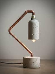 Resultado de imagen de concrete lamps