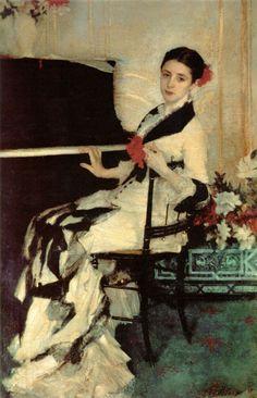 Madame Ramon Subercaseaux (nee Amalia Errazuriz y Urmeneta) John Singer Sargent -- American painter   1880  Private collection