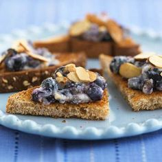 Quick & Easy Blueberry Crostini Snack
