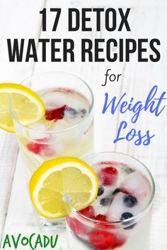 Detox Water Recipes | Detox Waters for Weight Loss | Healthy Drinks to Lose Weight | Avocadu.com