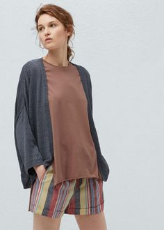 Dolman sleeve cardigan -  Women | MANGO USA