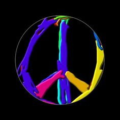 Psychedelic Peace Sign Stickers (sheet of 20)  ~ Strong vibrant colors designed by a peace lovin' kid ~  Official product of http://zazzle.com/BlogBlast4Peace* $6.40