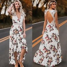 Taylor - Boho Floral Maxi Dress