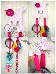 My bow holders are a unique and practical additional to any nursery or girls room. No more clutter or tangled hair accessories. Turn your hair