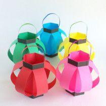 折り紙で作る「手作りちょうちん」の作り方 | 粘土工房 Kokko Garden