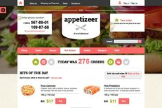 Appetizeer – Food Store Template. HTML/CSS Themes. $15.00