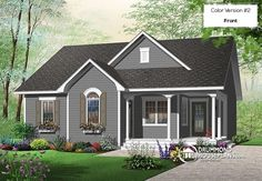 Discover the plan 3118 - Calvert from the Drummond House Plans house collection. Affordable 2 bedroom bungalow with kitchen island, great open floor plan and affordable construction costs. Small Floor Plans, Small House Plans, Cottage House Plans, Cottage Homes, Bungalow, Drummond House Plans, Country Style House Plans, Best House Plans, Long Island