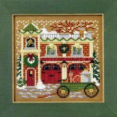 Firehouse Cross Stitch Kit Mill Hill 2009 Buttons & Beads Winter - $10.99