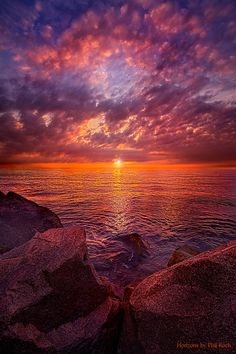"""""""Dreams Within Dreams""""Sunrise over Lake Michigan. by Phil Koch Beautiful World, Beautiful Places, Beautiful Pictures, Amazing Sunsets, Amazing Nature, Nature Images, Nature Pictures, Storm Pictures, Landscape Photography"""