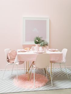 A Perfectly Pink Party Table / Oh Joy!