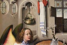 """La représentation continue 1178 - Atelier de Robert Campin, dit le """"Maître de Flémalle"""", v. 1378-1444, Triptyque de Mérode, v. 1430, dét. — """"The Cloisters"""", New York, USA   Flickr - Photo Sharing!"""