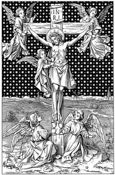 Crucifixion with angels