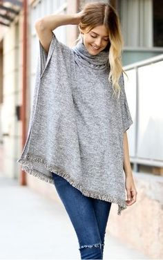 danielle. this super comfy short sleeve sweater can be layered to keep you warm during the cold weather