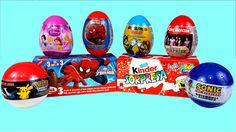 Surprise Eggs Spiderman Kinder Surprise SpongeBob Christmas One Directio...