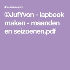 ©JufYvon - lapbook maken - maanden en seizoenen.pdf