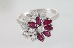 A 14CT DIAMOND AND RUBY DRESS RING   O'Reilly's Auction Rooms, Dublin