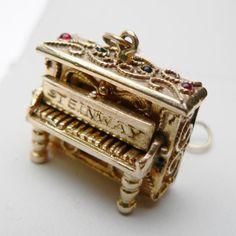 14 Karat Steinway Solid Gold Piano Charm..