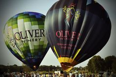 Indiana Balloon Fest 2013 Oliver Winery balloons