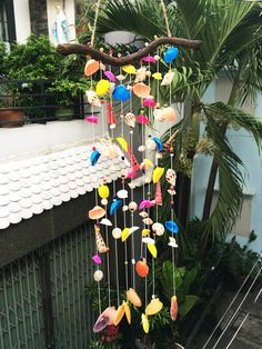 Items similar to Rainbow seashell windchimes Seashell Wind Chimes, Beach Wedding Decorations, Wedding Ideas, Seashell Crafts, Unique Gifts, Handmade Gifts, All Art, Sea Shells, Dream Catcher