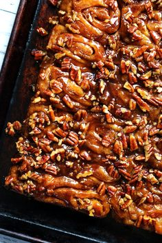 Pecan caramel sticky buns are allowed to rise overnight in the fridge so that they are ready to bake off for an indulgent and delicious breakfast the next morning. Pecan Sticky Buns, Pecan Rolls, Cinnamon Rolls, Sticky Rolls, Brunch Recipes, Breakfast Recipes, Biscuits, Muffins, Bun Recipe
