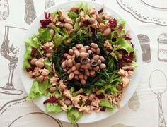 Deliciosa paparoca: Salada de feijão maduro e atum