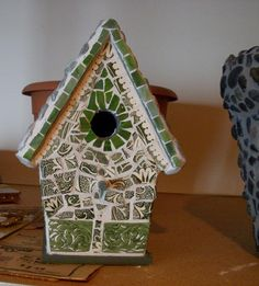 First mosaic birdhouse done by my amazing friend, Deb.