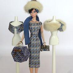 "Handmade Vintage Barbie/Silkstone Fashion by Roxy-""WAVES OF SOIE"" -15pcs"