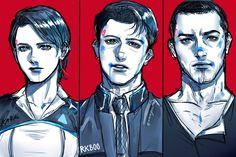 Detroit become human Kara, Connor, Markus By: mmmguntger