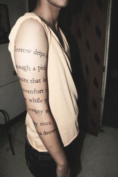 Poem on arm