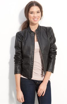 For smaller petite women - Juniors Faux LeatherJacket. Looks more expensive then it is, trendy, and down right chic.