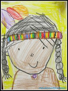 Kindergarten Drawing for Thanksgiving Great samples to show kids