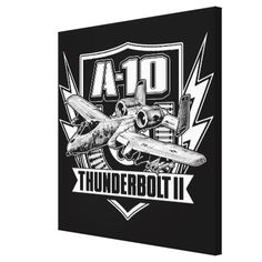 A-10 Thunderbolt II Stretched Canvas Print - customizable diy