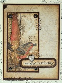 Ink on My Fingers: Sunday Stamper - Week 320 - (You Make Me Feel Like) A Natural Woman using Tim Holtz, Ranger and Stamper's Anonymous products; Aug 2014