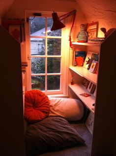 The reading nook in our rented house.