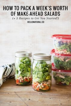 Need a little mason jar salad inspiration? Here are a few ideas you'll love to bring for lunch.