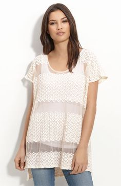 Loving the white crochet/lace tops lately