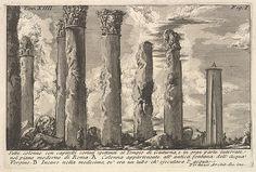 Giovanni Battista Piranesi   Seven columns of the Temple of Juturna with Corinthian capitals . . . (Sette colonne con capitelli corinti spettanti al Tempio di Giuturna . . .)   The Met