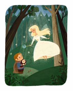 The Fairy Queen gives her wand to Willow. Tribute to the movie Willow by Eren Blanquet Unten