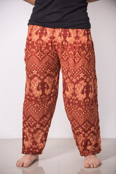 Ohhh... Pants are cute, but who is the model?? :)   Peacock Men's Harem Pants in Brick