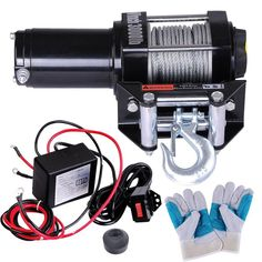 12 Volt 3000 lbs Car Truck Corded Remote ATV Winch