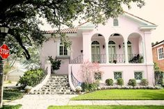 How hard would it be to convince Jeff that a pink house is ok? pink house, new orleans by joy the baker, via Flickr.
